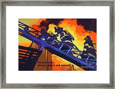 Ode To Our Heros Framed Print by John Malone