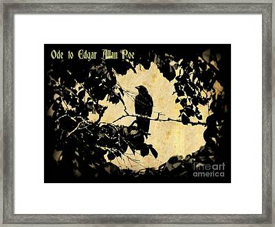 Ode To Poe Framed Print by John Malone