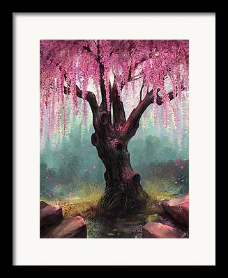 Blossom Digital Art Framed Prints