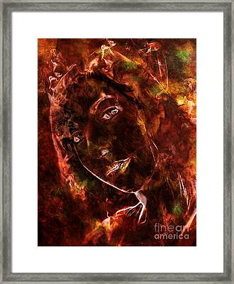 Ode To The Girl On Fire Framed Print
