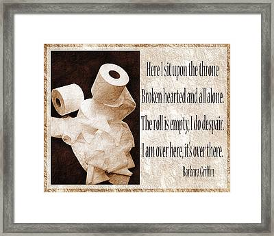 Ode To The Spare Roll Sepia 2 Framed Print