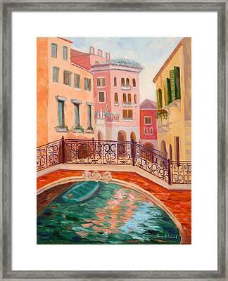 Ode To Venice Framed Print by Karin  Leonard