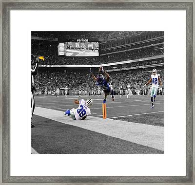 Odell Beckham Breaking The Internet Framed Print by Brian Reaves