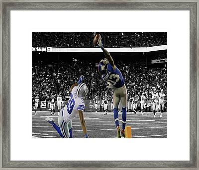 Odell Beckham Greatest Catch Ever Framed Print by Brian Reaves