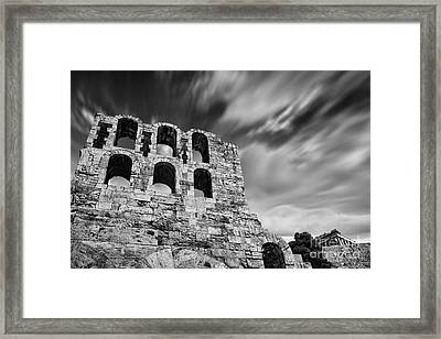 Odeon Of Herodes Atticus - Athens Framed Print