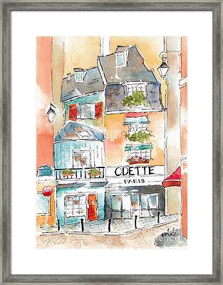 Odette On Rue Galande Paris Framed Print