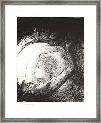 Odilon Redon French, 1840 - 1916. A Woman Clothed Framed Print by Litz Collection