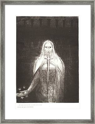 Odilon Redon French, 1840 - 1916. And He Had In His Right Framed Print by Litz Collection
