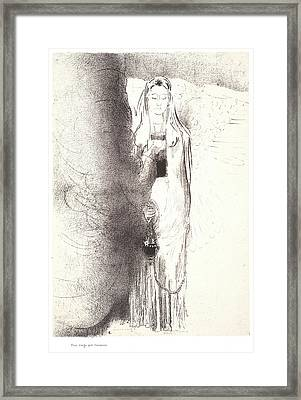 Odilon Redon French, 1840 - 1916. And The Angel Took Framed Print by Litz Collection