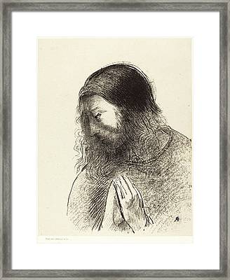 Odilon Redon French, 1840 - 1916, Cest Moi Framed Print by Quint Lox
