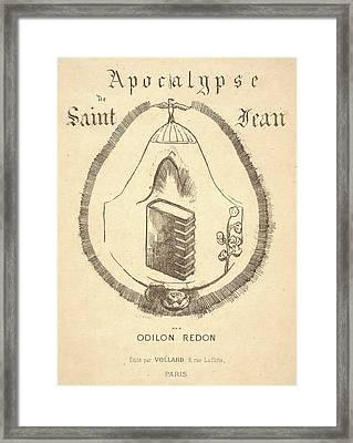 Odilon Redon French, 1840 - 1916. Cover Illustration Framed Print