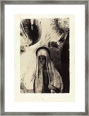 Odilon Redon French, 1840 - 1916, La Vieille Que Crains-tu Framed Print by Quint Lox