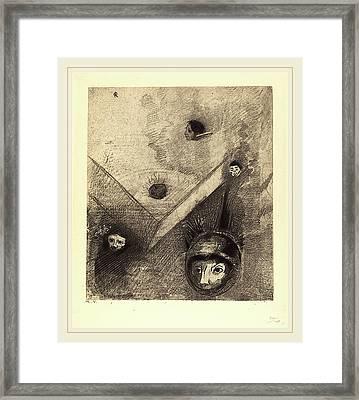 Odilon Redon French, 1840-1916, Sur Le Fond De Nos Nuits Framed Print by Litz Collection