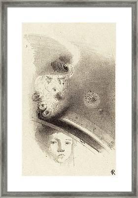 Odilon Redon French, 1840 - 1916, Tete Denfant Head Framed Print