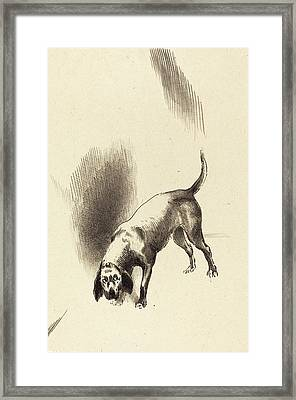 Odilon Redon French, 1840 - 1916, The Dog Framed Print by Quint Lox