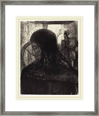 Odilon Redon French, 1867-1939, Vieux Chevalier Old Knight Framed Print