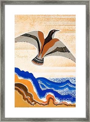 Odyssey Illustration  Bird Of Potent Framed Print