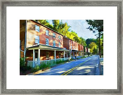 Framed Print featuring the photograph Oella Avenue by Dana Sohr