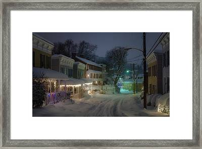 Oella Night Blizzard Framed Print
