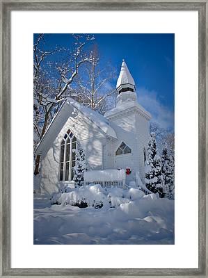 Oella Snow Church Framed Print