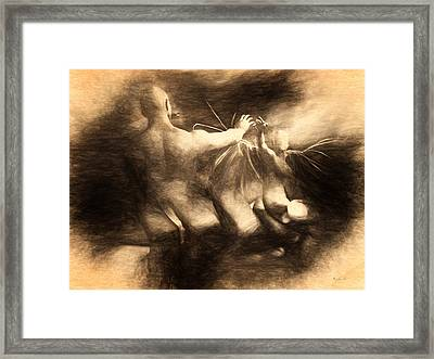 Of Angels And Demons Framed Print by Bob Orsillo