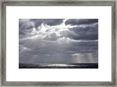 of Clouds and Sun. Framed Print