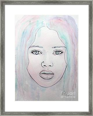 Of Colour And Beauty - Blue Framed Print by Malinda Prudhomme
