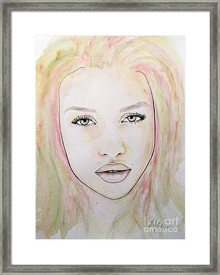 Of Colour And Beauty - Pink Framed Print by Malinda Prudhomme