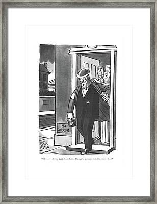 Of Course, If They Don't Bomb Sutton Place, I'm Framed Print
