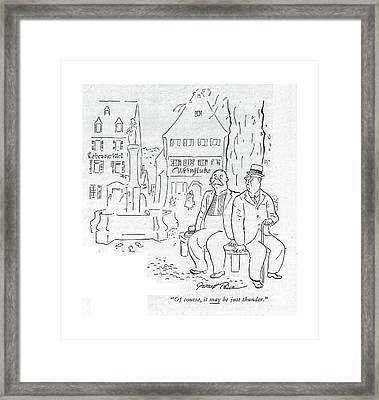 Of Course, It May Be Just Thunder Framed Print