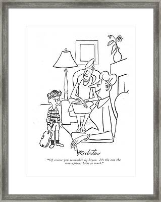 Of Course You Remember Framed Print by Mischa Richter