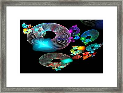Of Discs And Things Framed Print by Nancy Pauling