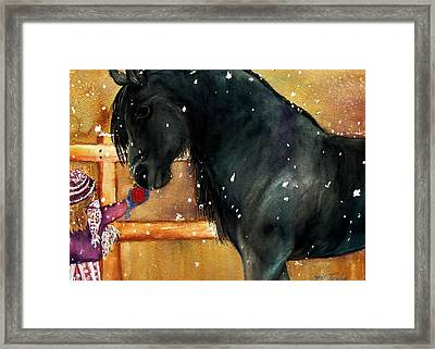 Of Girls And Horses Sold Framed Print