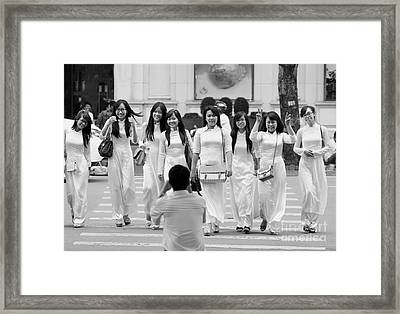 Of Her Students Framed Print