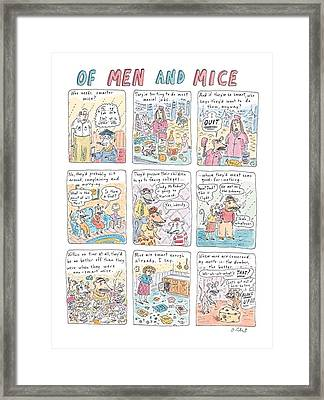 Of Men And Mice Framed Print by Roz Chast