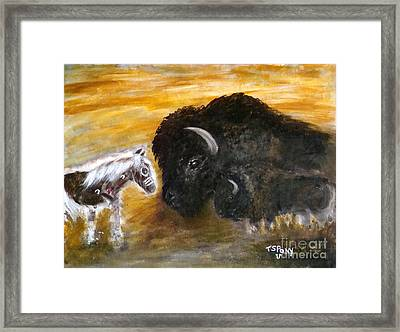 Framed Print featuring the painting Of Proud Heritage by Barbie Batson