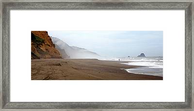 Framed Print featuring the photograph Of Solitude And Sand by Thomas Bomstad