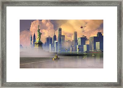 Of Stone And Steel Framed Print by Dieter Carlton