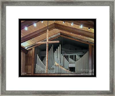 Framed Print featuring the photograph Of The Cross And Pipes by Karen Musick