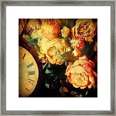 Of Time And Roses Framed Print