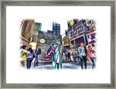 Off Broadway Framed Print by Benny Ventura