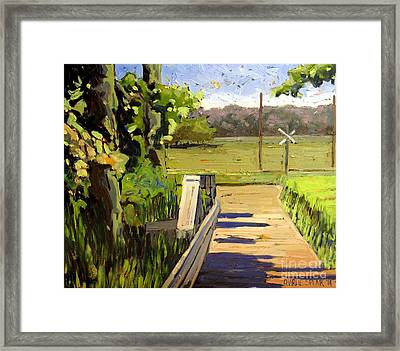 Off Daniels Road Framed Print by Charlie Spear