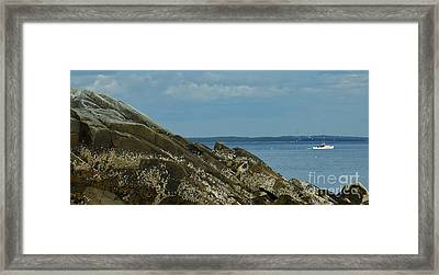 Off Lamoine Framed Print by Christopher Mace