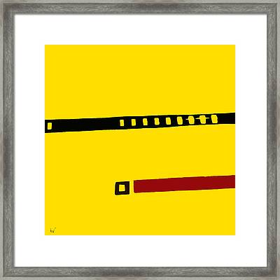 Framed Print featuring the digital art What Is This? by Ken Walker