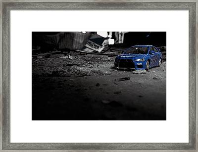 Off Road Rally Blue Framed Print by Anthony Bean