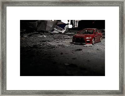 Off Road Rally Red Framed Print