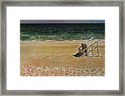Framed Print featuring the pyrography Off Season by Allen Beilschmidt