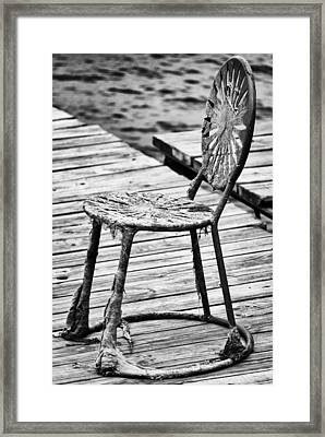 Off-season Grunge Framed Print by Christi Kraft