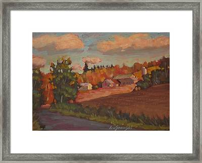 Framed Print featuring the painting Off The Beat'n Path by Len Stomski