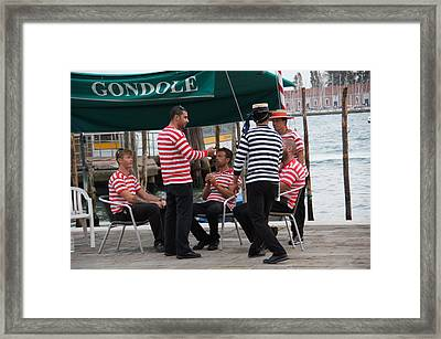 Off The Canal Framed Print